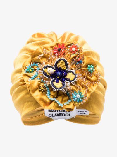 gold canaria bead embellished turban