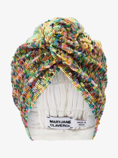 multicoloured Adele sequin hair turban