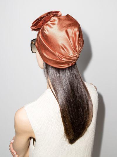 orange jalisco flower turban