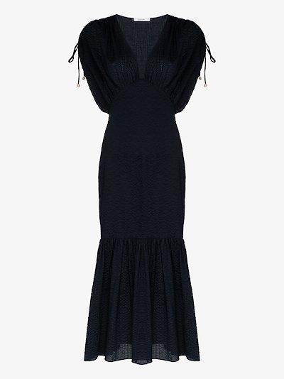 Monterey V-neck cotton midi dress