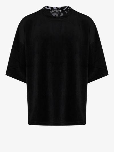 Back print velour T-shirt