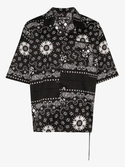 bandana print cotton shirt