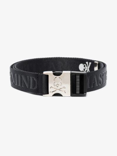 black logo webbing belt