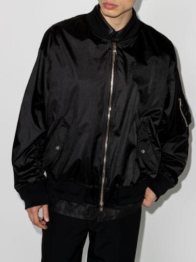 chain skull bomber jacket