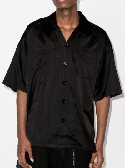 embroidered skull silk shirt