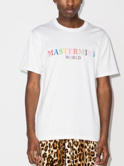 logo skull print cotton T-shirt