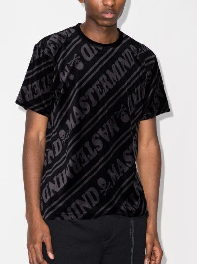 Mastermind World Logo print velour T-shirt