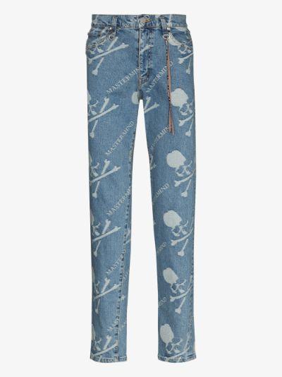 Mastermind World monogram slim jeans