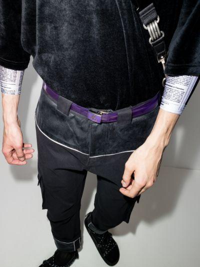 purple transparent PVC belt