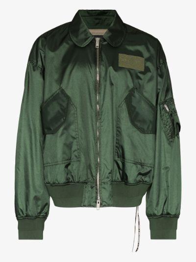skull embroidered bomber jacket