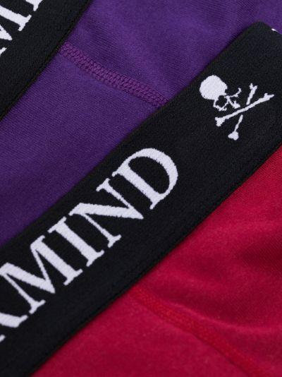 skull logo cotton boxer set