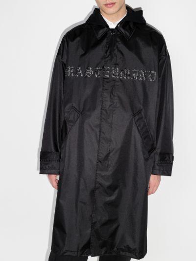 skull logo raincoat