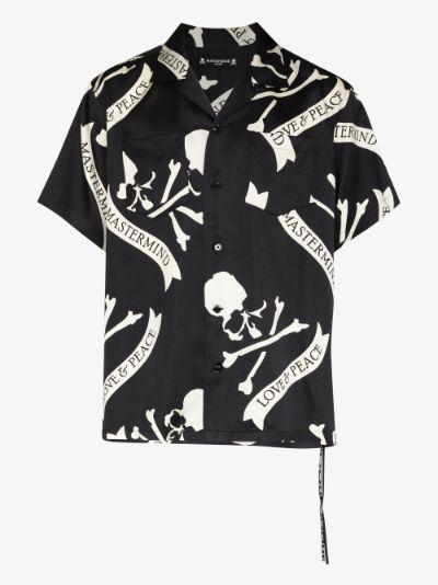 Skull Print Silk Shirt