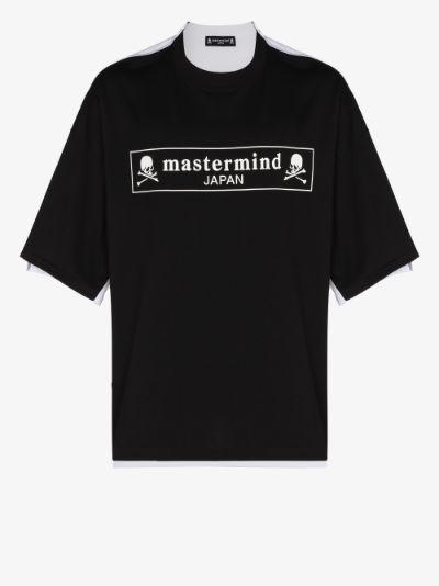 Skull print two tone T-shirt