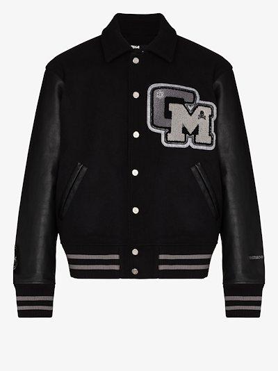 X C2H4 C Mastermind appliqué bomber jacket
