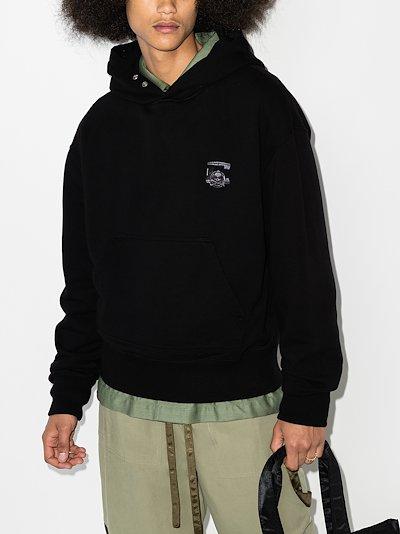 X C2H4 C Mastermind appliqué logo hoodie