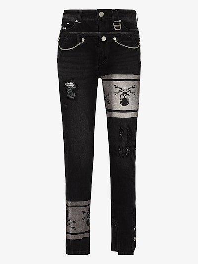 X C2H4 Double Waist Jeans