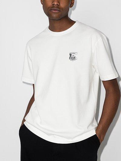 X C2H4 logo print T-shirt