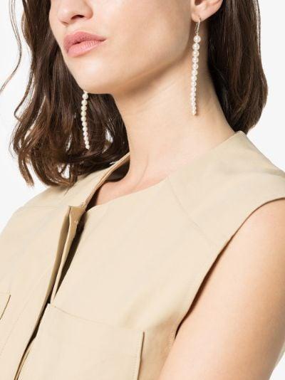 14K yellow gold pearl drop earrings