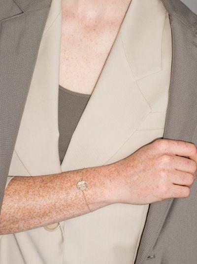 14K yellow gold S initial diamond bracelet