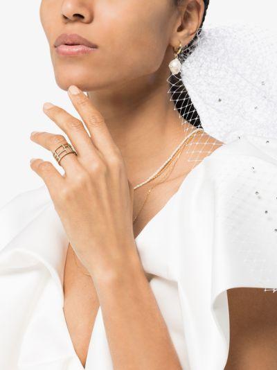 14K yellow gold Tralis diamond ring