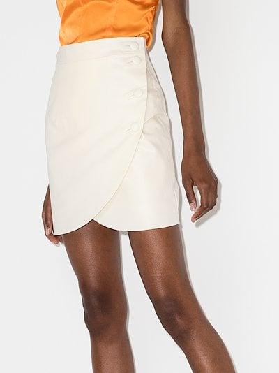 buttoned tulip mini skirt