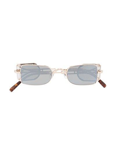 black 10611H rectangular sunglasses