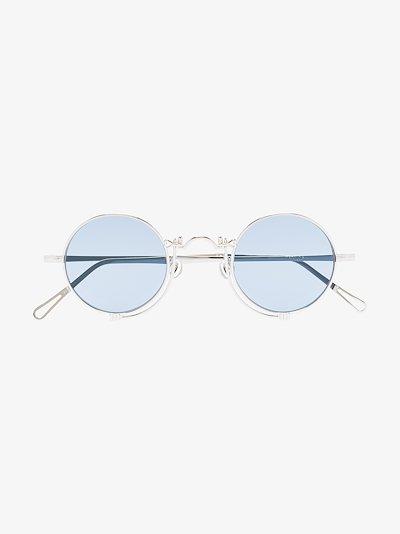 silver tone 10601H round sunglasses