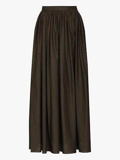 gathered maxi skirt