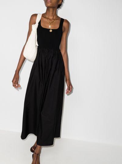 gathered waist maxi dress
