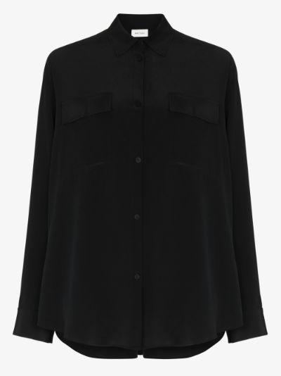Lssis long sleeve silk shirt
