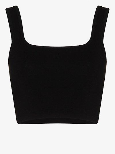 Nineties cropped knit tank top