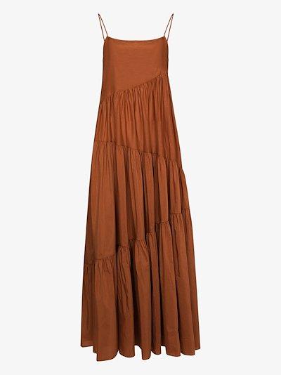 square neck maxi dress