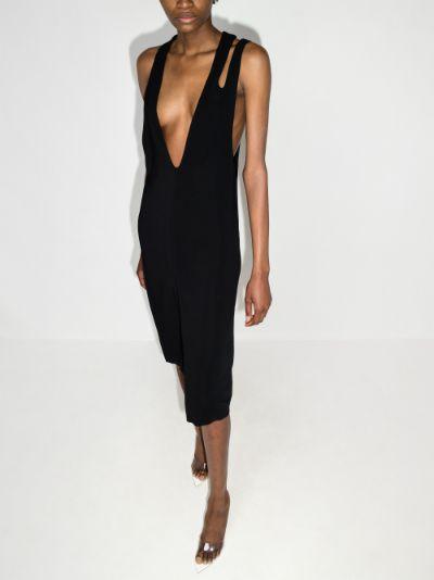 Streamline sleeveless midi dress