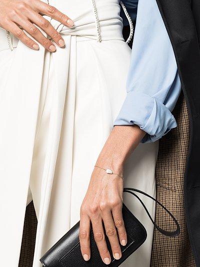 14K yellow gold pearl pendant bracelet