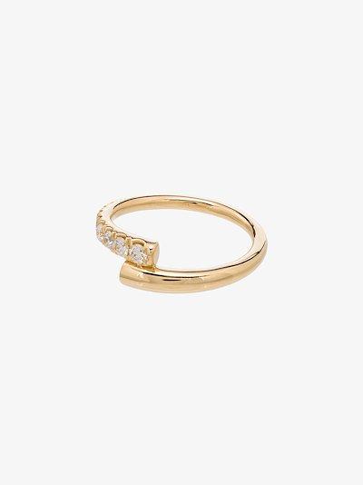 18K pink gold lola pave diamond ring