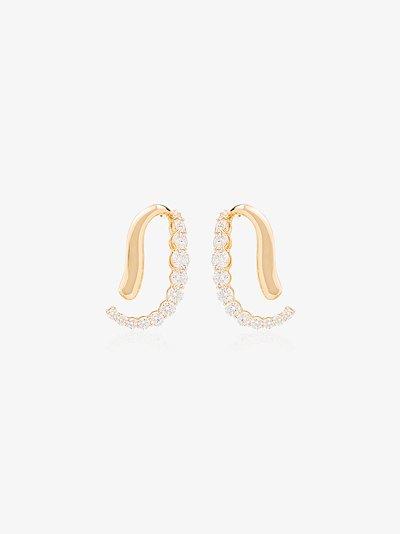 18K yellow gold Aria Skye diamond earrings