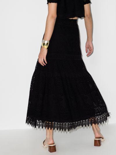 Alessia cotton midi skirt