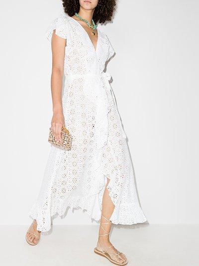 Brianna wrap cotton midi dress