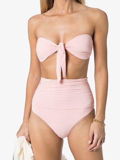 Caribe tie bandeau bikini top