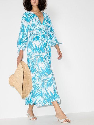 Gabby printed wrap midi dress