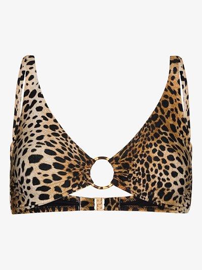 Santa Fe cheetah print bikini top