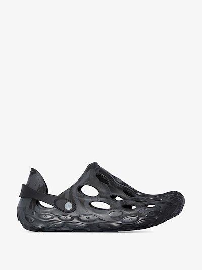 black Hydro Moc sandals