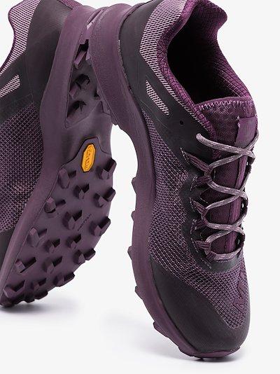 purple long sky mesh sneakers