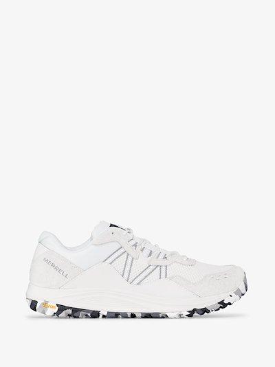 white Long Sky mesh sneakers