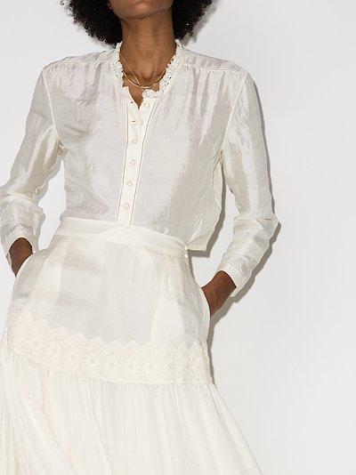 Edith cropped silk shirt
