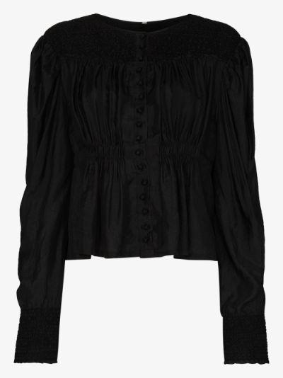 Margarete buttoned organic silk blouse