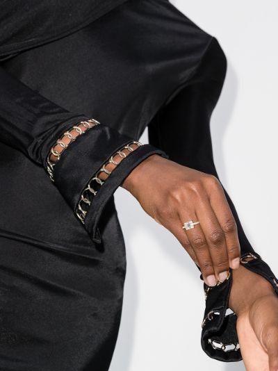 14K rose gold Clarity Cube diamond ring
