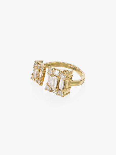 18K yellow gold Clarity Open Dual Cube diamond ring