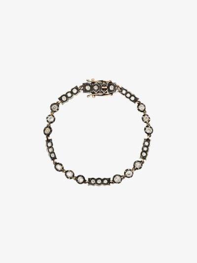 9K yellow gold Old European diamond bracelet
